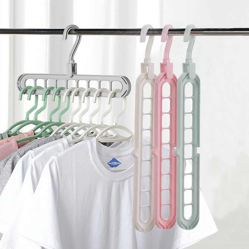 Clothes hanger organizer Multi-port Support baby coat hanger Drying Racks Plastic Scarf cabide Storage Rack hangers for clothes