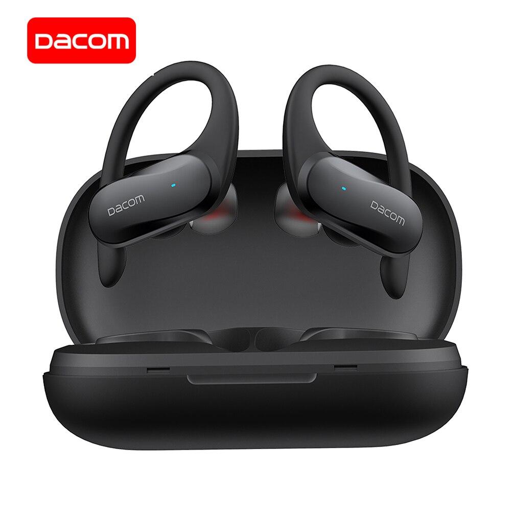 DACOM G05 наушники-вкладыши TWS Bluetooth наушники Bass технология True Wireless Stereo Headphons спортивные наушники с креплением на ушах, наушники для бега, для iPhone ...