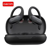 Dacom fone de ouvido g05 tws wireless e bluetooth, fone auricular esportivo com gancho e som estéreo, para iphone e xiaomi