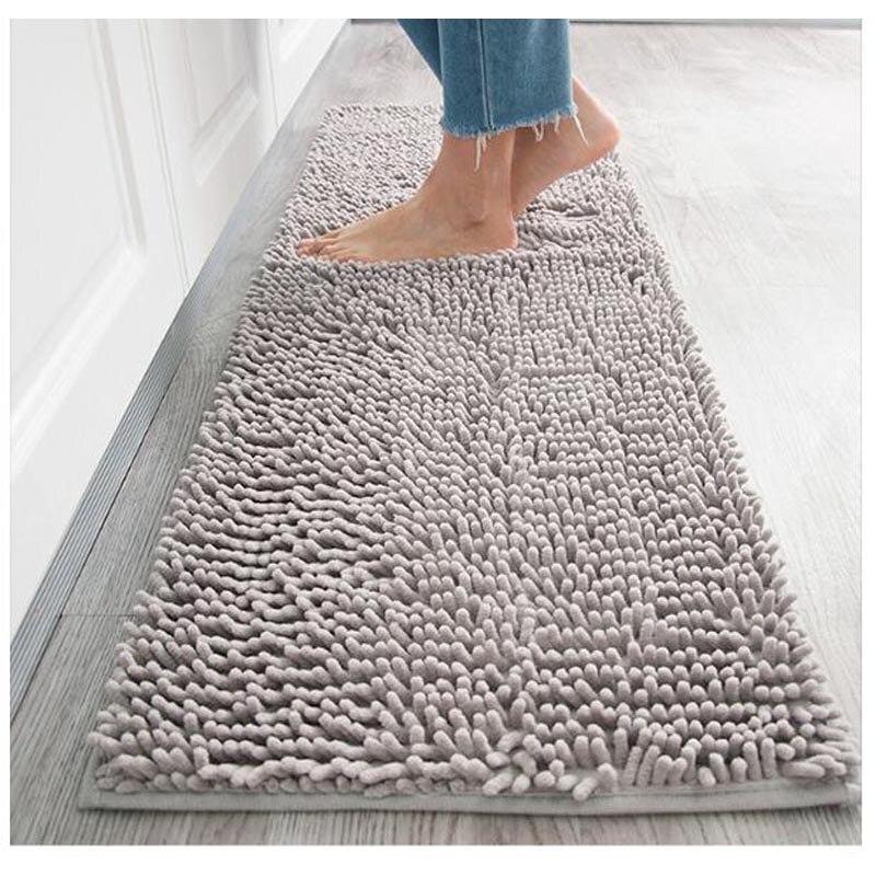 microfiber chenille bath mat water absorb anti slip bathroom rug carpet for living room floor mat for kids tapete de banheiro