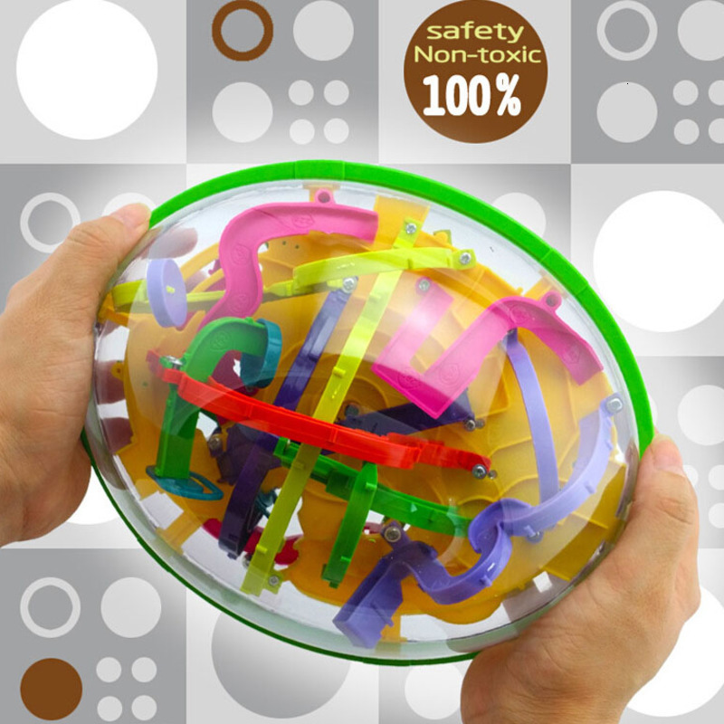 3D Intellect Puzzle Ball 299 Level Large Magic Maze Game Toys For Children Adult Balance Learning Educational Toys For Kids Gift