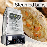220V/1200W Glass steaming cabinet bun steamed bread Heating cabinet Commercial desktop large capacity steamed bun machine|Food Processors|   -
