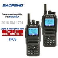 """מכשיר הקשר 2pcs Baofeng DM-1701 Digital מכשיר הקשר 10 ק""""מ אנלוגי Woki טוקי CB רדיו DMR רדיו Comunicador Dual Band Dm 1701 מקמ""""ש (1)"""