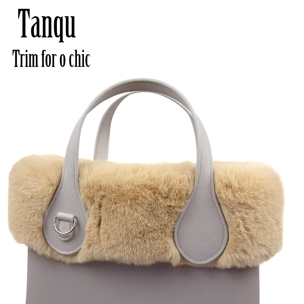 Tanqu New 8 Colors Women Bag Faux Rex Rabbit Fur Plush Trim For Chic O BAG Thermal Plush Decoration Fit For Ochic Obag
