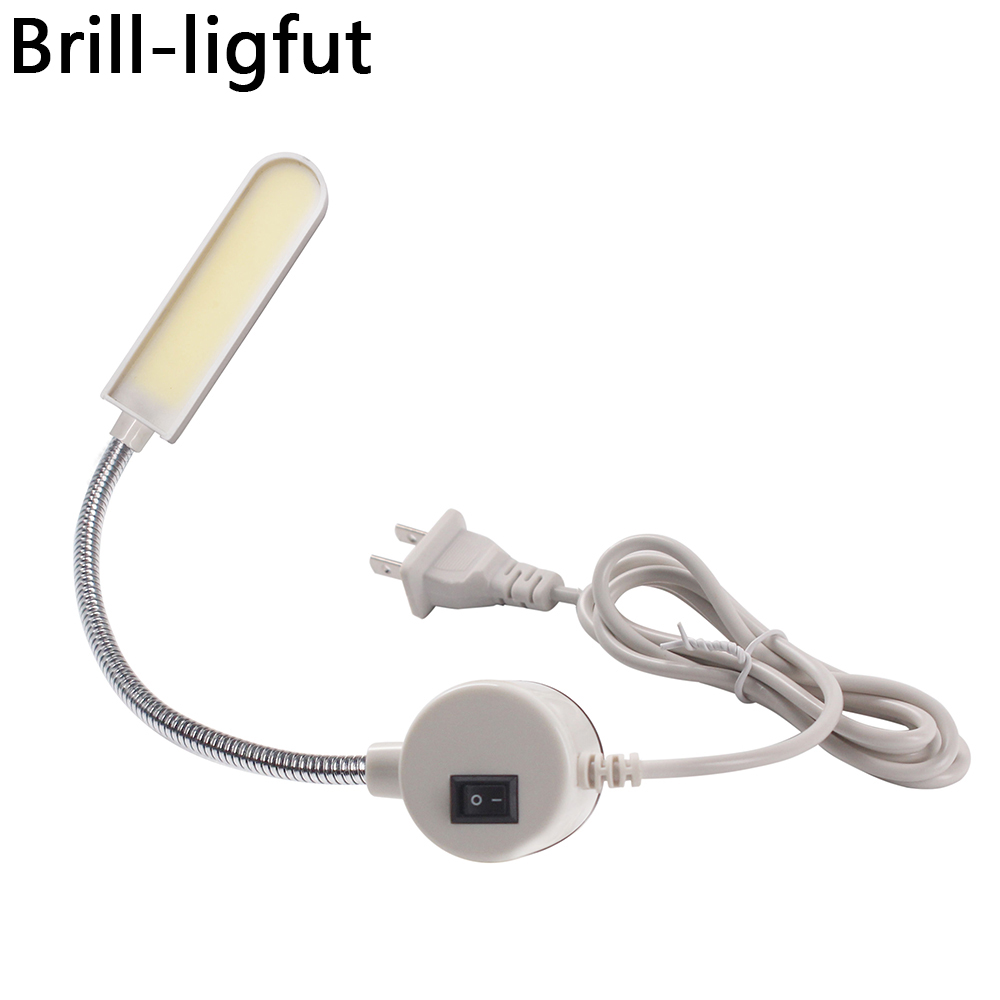 Super Bright COB 6W LED Sewing Clothing Machine Light Home Working Light Lamp With Magnetic Base For All Sewing Machine Lighting