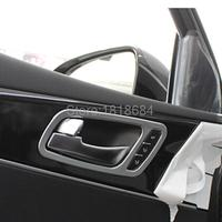 For Kia Sorento 2016 High Quality ABS Chrome Interior Side Door Handle Bowls Cover Frame Trims Auto Parts Accessories 4pcs/set