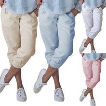2019 Men Capri Pants Casual Autumn Beach Yoga Bermuda Knee Long Length Style Short Solid Color Shorts