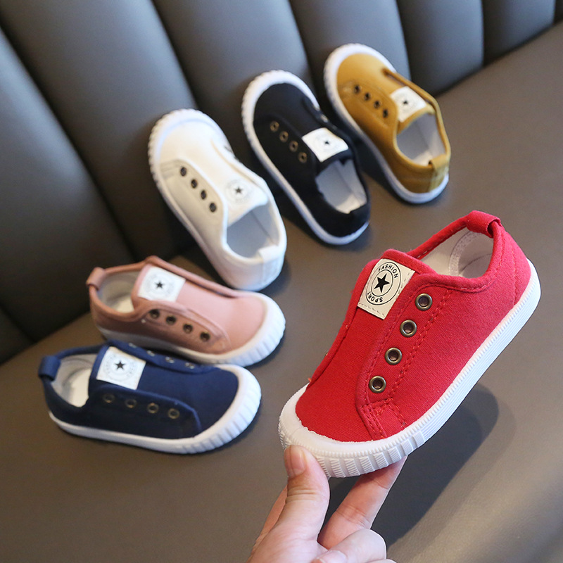 Classic Toddler Baby Shoes Casual Slip On Soft Boys Girls Canvas Shoes For Kid Walking Shoe Spring/Autumn Child Fashion Sneakers