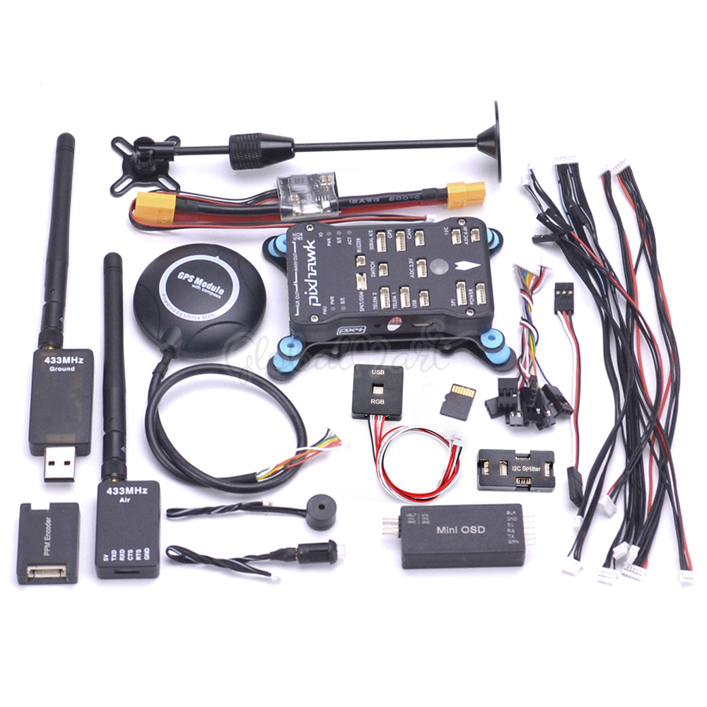 Pixhawk PX4 PIX 2.4.8 32 Bit Controllore di Volo w/4G SD Interruttore di Sicurezza Buzzer M8N GPS Mini OSD PPM RGB I2C 433 100mw Telemetria-in Componenti e accessori da Giocattoli e hobby su  Gruppo 1