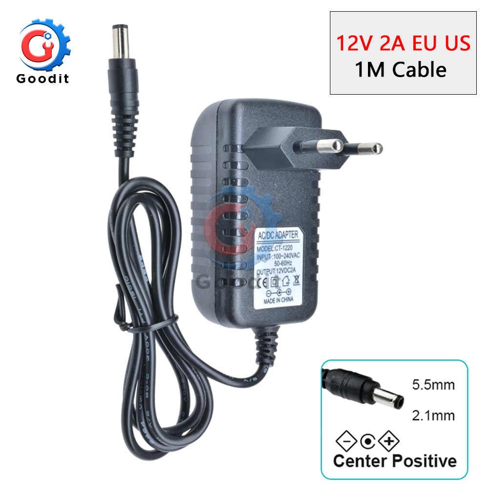 100-240V AC do DC ue konwerter wtyczki zasilacz ładowarka Adapter do 2A paski świetlne LED zasilacz dla przełącznik lampy