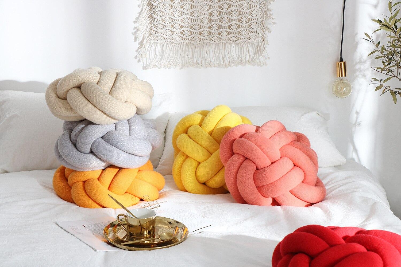 Explosions Knot Pillow Yarn Knitting Diy Handmade New Sofa Pillow Office Nap Technology Diy Knitting Aliexpress