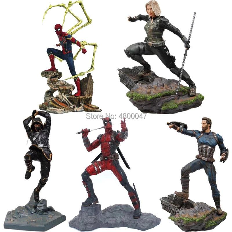 Action-Figures Statue Thanos Spiderman Iron Studios Deadpool Captain Marvel Avengers