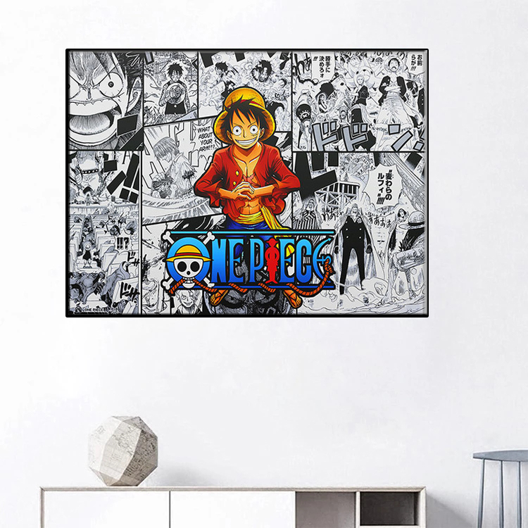 Japanese anime anime posters and prints kids one piece canvas painting wall decoration bedroom study pop art