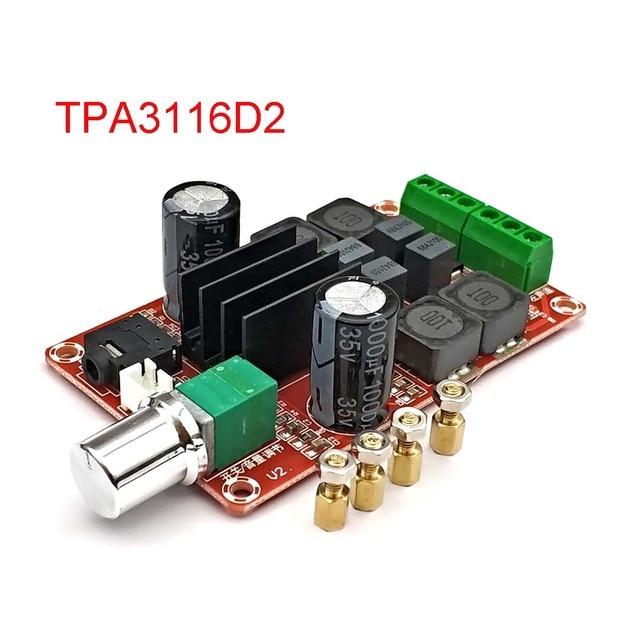 Tpa3116D2 2X50W плата цифрового усилителя мощности от 5 В до 24 В двухканальный стерео усилитель