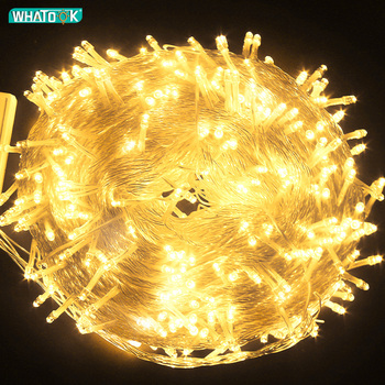 Xmas Outdoor christmas lights led fairy string lights 10M 20M 30M 50M100M Luces Decoracion garland Wedding holiday light EU Lamp string light g40 25ft clear balls bulb 25pcs party outdoor holiday fairy lights lumineuse luces decoracion
