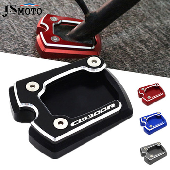 Motorcycle For Honda CB 300 250 150 125 CB300R CB250R CB150R CB125R Kickstand Foot Side Stand Extension Enlarge Support Pad image