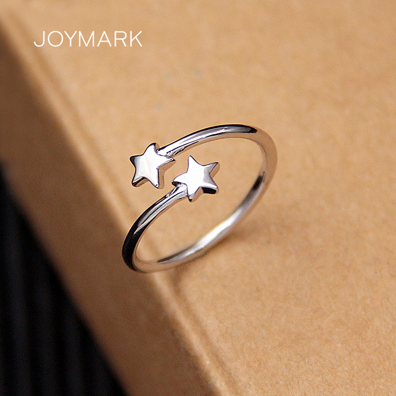 Sterling Silver Star Ring Girls Finger Ring Simple Meteor Adjustable Ring 925 Silver Jewelry Birthday Gift For Girlfriend Tsr135 Rings Aliexpress