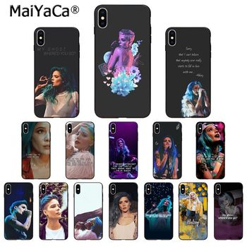 MaiYaCa Halsey Singer songs lyrics High Quality Phone Case for iPhone 11 pro XS MAX 8 7 6 6S Plus X 5 5S SE XR case image