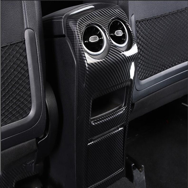For Mercedes-Benz GLA-Class GLA200 220 250 2020 2021 Rear Armrest Air Outlet Panel Cover Trim Car Interior Accessories 1