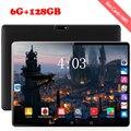 2020 novo design 10 polegada tablets android 8.0 os 6 gb + 128 gb rom câmera dupla 8mp sim tablet pc wifi gps 4g lte almofada do telefone móvel