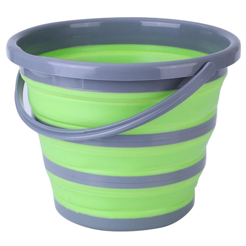 Foldable Bucket Car Wash Outdoor Fishing Round Bathroom Kitchen Bucket Green|Buckets| |  - title=