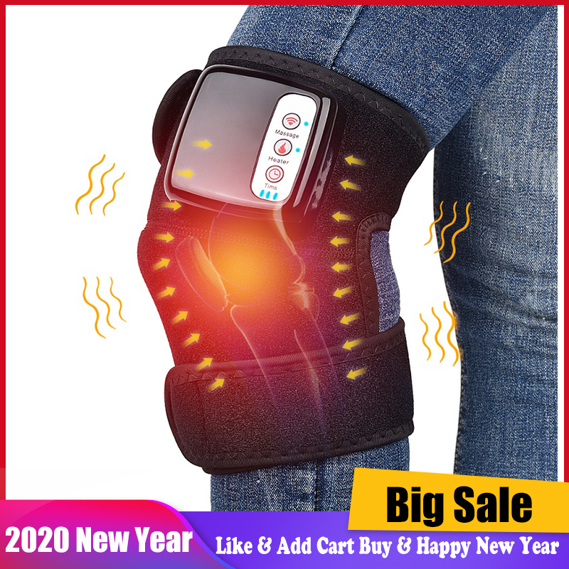 Knee Heat Massager Protable Knee Wrap Massager for Joint Pain Relief Physical Treatment Cordless & Rechargeable Health Care