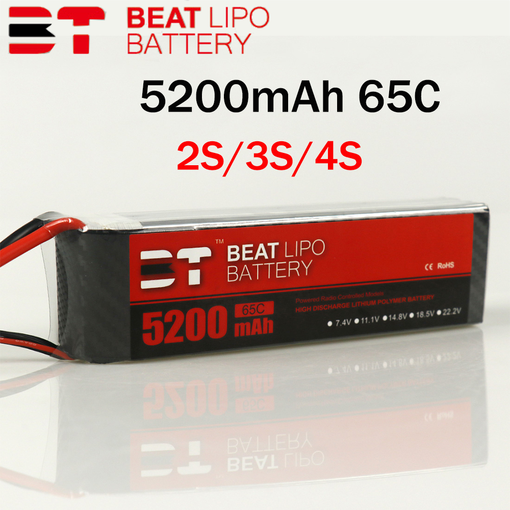 Beat <font><b>LIPO</b></font> battery2S 3S <font><b>4S</b></font> <font><b>5200mAh</b></font> 65C 7.4V 11.1V 14.8V <font><b>Lipo</b></font> Battery for FPV Racing Drone Quadcopter image