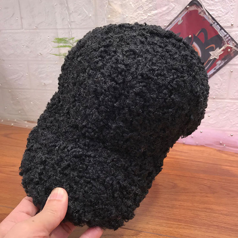 New Casual Outdoor Warm Winter Cap Girl Women Adjustable Faux Fur Baseball Cap Cotton Hip-Hop Hat H9