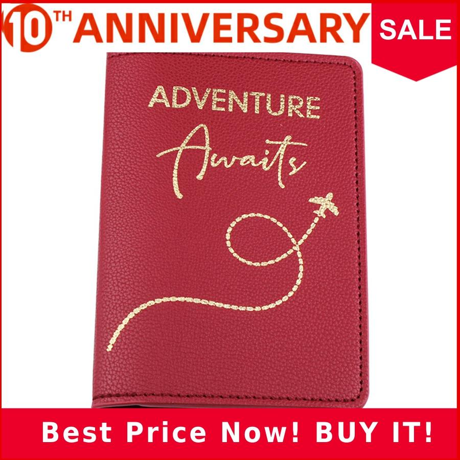 Zoukane Letter Adventure Words Plan Flying PU Leather Passport Cover Case Card Holder Travel Accessories Passport Wallet CH15