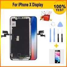 เกรด AAA หน้าจอ LCD สำหรับ iPhone X จอแสดงผล LCD 3D TOUCH Digitizer