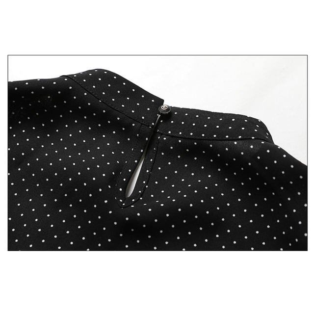 Polka Dot Shirts Woman Clothes Long Sleeve Chiffon Blouse Women 2020 Spring Tops New Button Blouses Casual Black Chemisier Femme 6