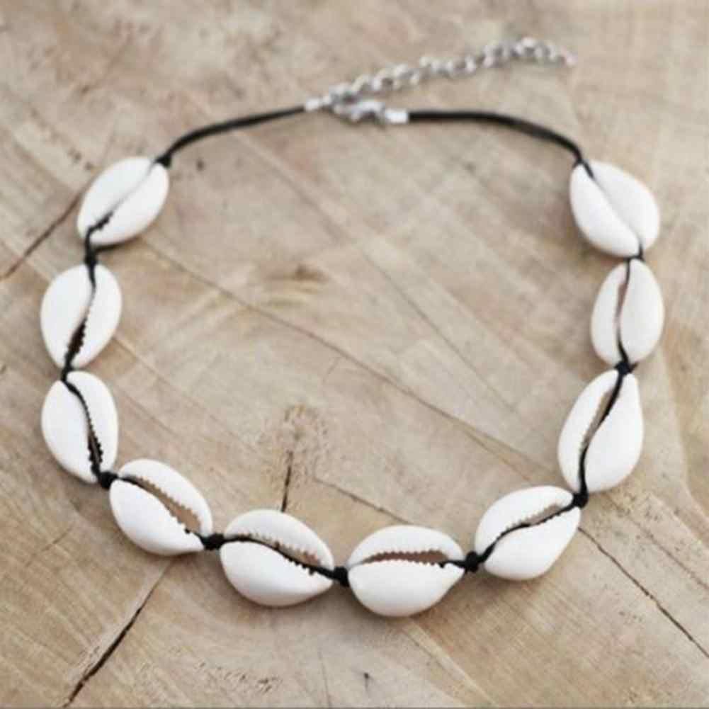 100 Uds. De la cáscara Cowry con Gap DIY pulsera collar tobillera natural cuentas de concha Diy mujeres pulsera collar joyería ornamento