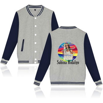 WAWNI Sabina Hidalgo Baseball Jacket Uniform Fashion Hip Hop Baseball Uniform Polyester Plus Cotton Unisex Trendy Loose 2020 image