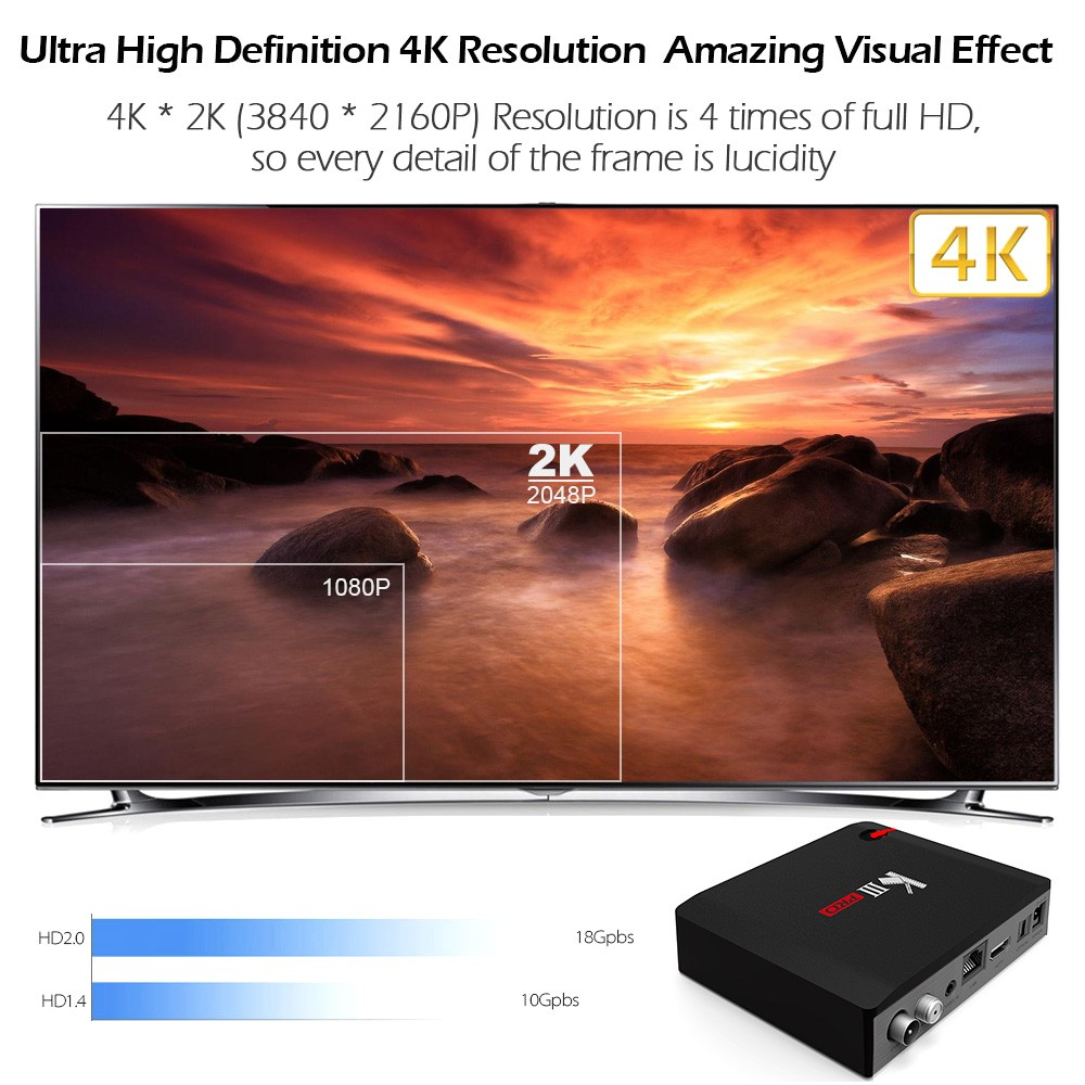 MECOOL KI Pro KII KIII Pro DVB T2 + S2 Android TV Box 3G 16G Amlogic S912 DDR4 Octa Core 4K décodage 2.4G + 5G décodeur lecteur multimédia - 4