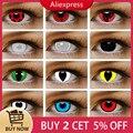 1 пара (2 шт.) 1 год Косплей Шаринган цветные контактные линзы для глаз цвет ed красный Uchiha Sasuke Hatake Kakashi аниме аксессуары