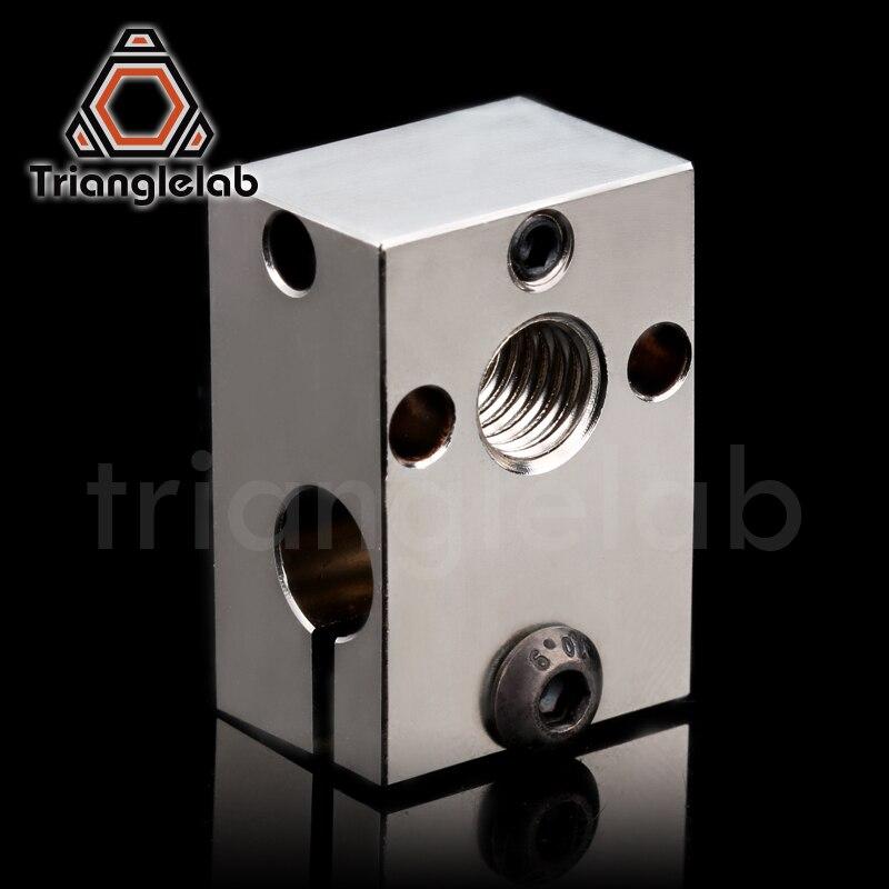 Trianglelab dragão bloco de calor para dragão hotend de alta temperatura bloco de aquecimento peças de reparo compatível com v6 hotend