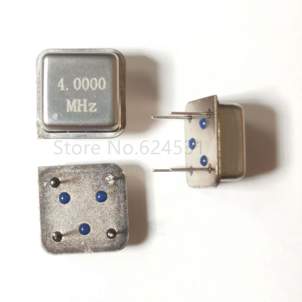 10pcs In-line Active Crystal Oscillator Clock Square Half Size DIP-4 OSC 4M 4.000MHZ