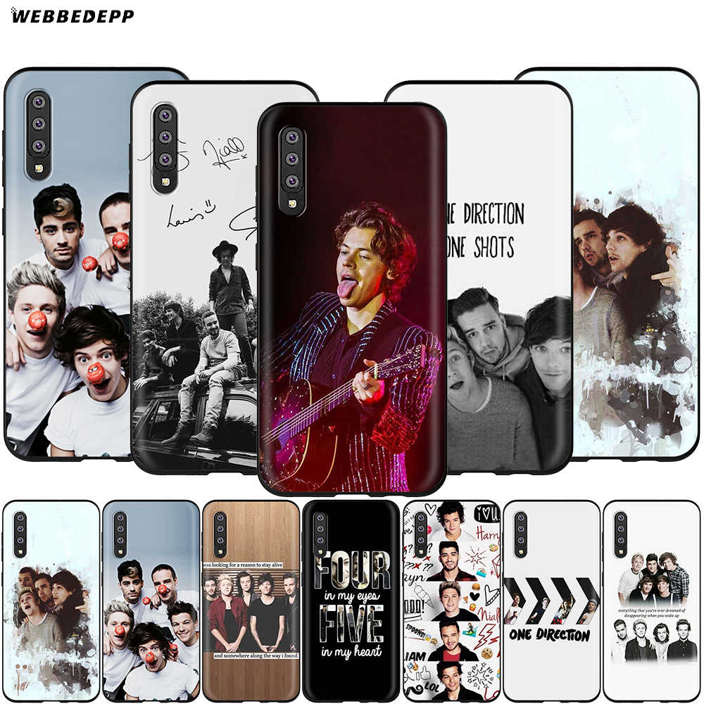 Webbedepp one direction etui do Samsung Galaxy A3 A5 A6 Plus A7 A8 A9 J6 M20 A10S A20S A30S A40S A50S