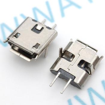 10 sztuk Micro USB 2pin B typ żeńskie złącze do telefonu komórkowego Micro USB łącze typu jack 2 pinowe gniazdo ładowania tanie i dobre opinie NIUEWISX Micro USB Jack 5pin