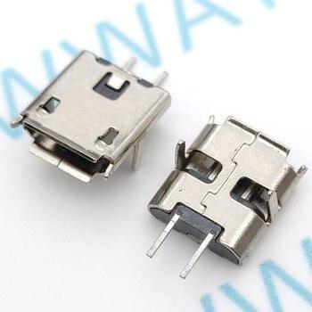 цена на 10pcs Micro USB 2pin B type Female Connector For Mobile Phone Micro USB Jack Connector 2 pin Charging Socket
