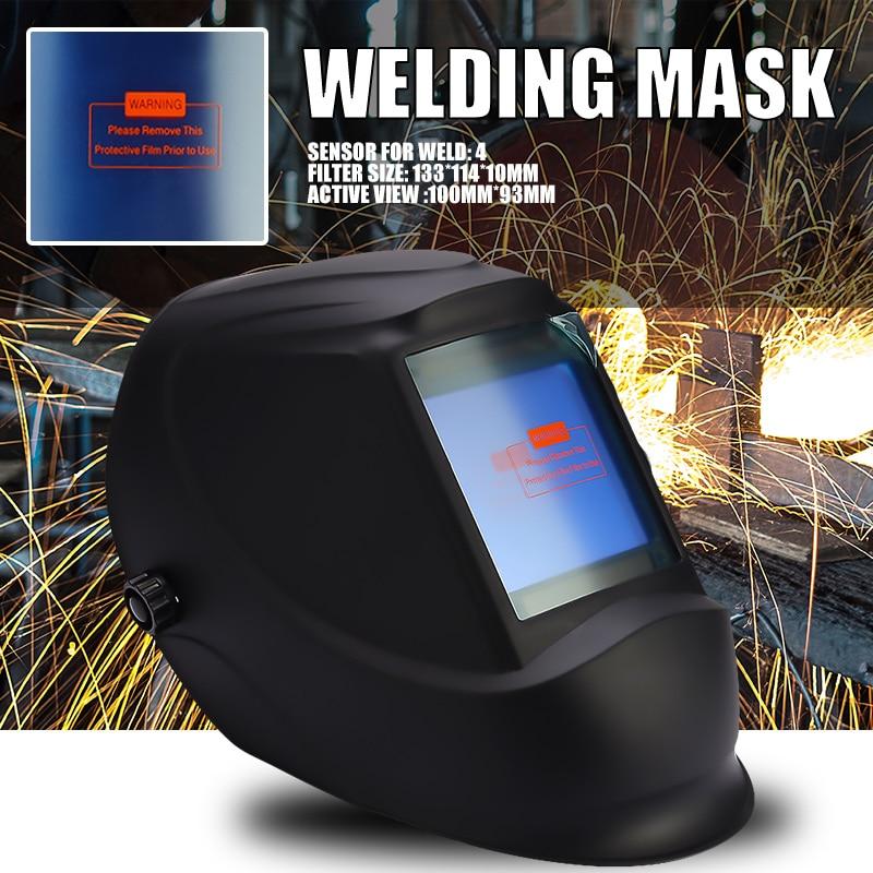 Big View Area 4 Arc Sensor Solar Auto Darkening TIG MIG MMA DIN5-DIN13 Welding Mask/Helmet/Welder Cap/Lens/Face Mask/Goggles