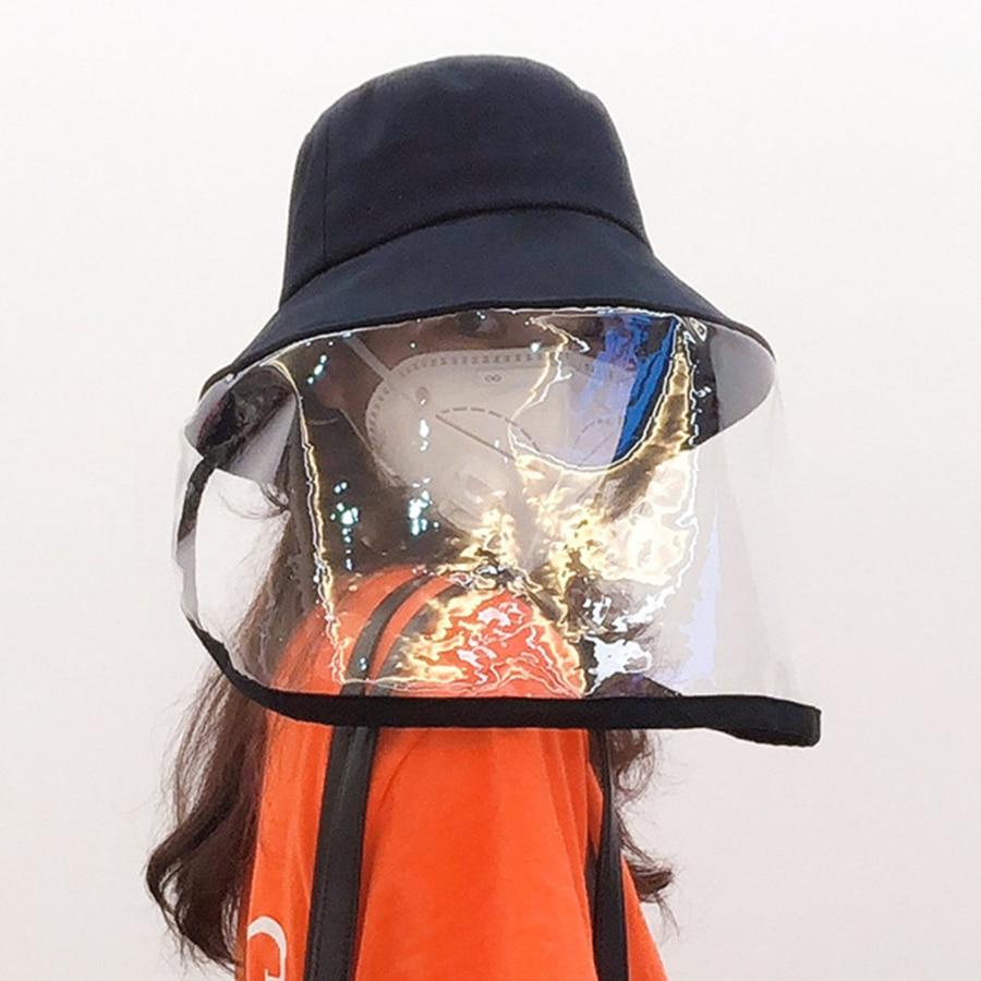 Spray Adjustable Unisex Anti-spitting Helmet Protective Bucket Hat Outdoor Splash-Proof Cap Cover Face Shield Anti Dust