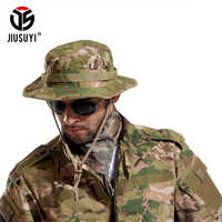 Multicam Tactical Airsoft Sniper Camouflage Bucket Boonie Hats Nepalese Cap SWAT Army Panama Military Accessories Summer Men