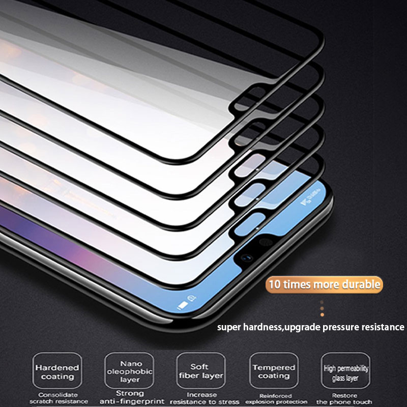 500D Tempered Full Cover Protective Glass on For Huawei P30 P20 Lite Pro Screen Protector Film For Mate 20 10 9 Lite Pro Glass 5