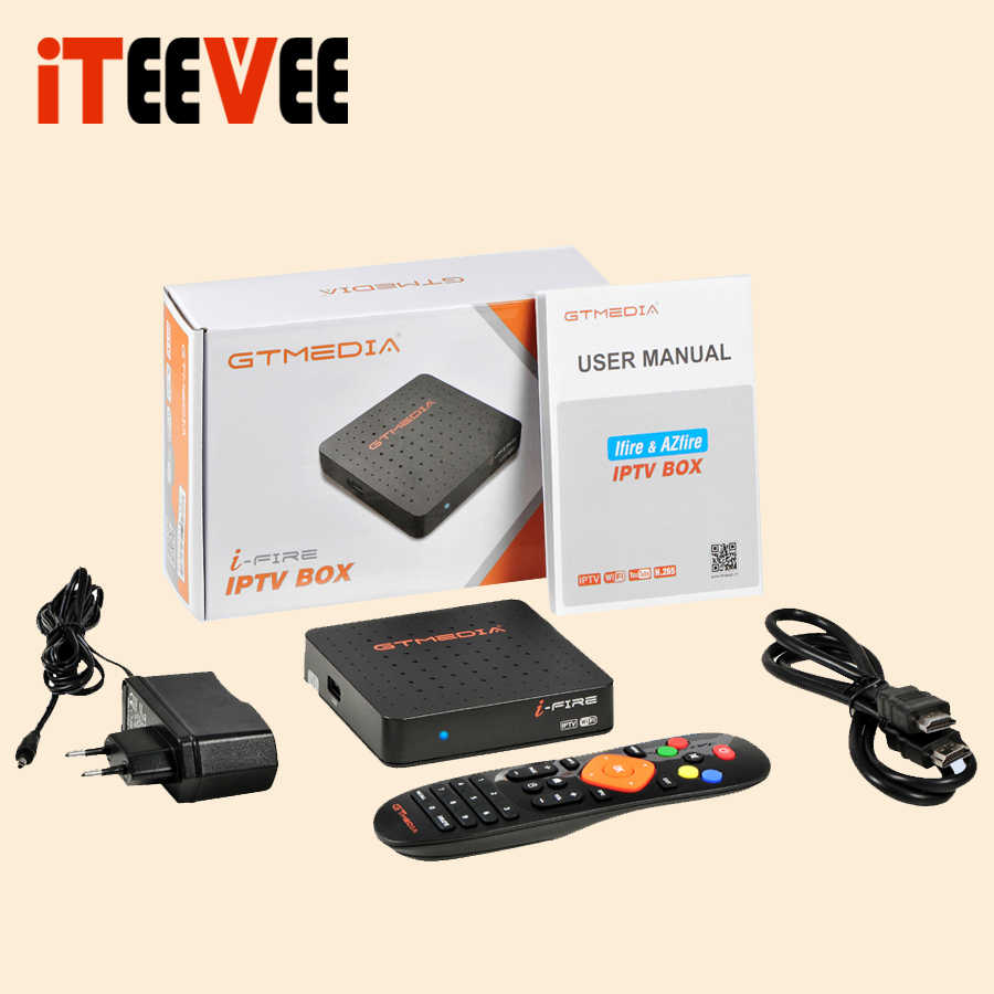 2019 Nieuwe Stijl GTMedia Ifire IPTV Box Digitale Set Top Box TV Decoder FULL HD 1080P (H.265) ingebouwde WIFI module iptv box