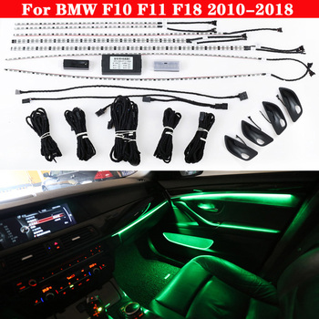 For BMW 5 series F10 F11 F18 2010-2018 Car neon interior door ambient light 9-color Auto decorative Atmosphere LED strip lights ceyes 4pcs car lights bowl handle armrest light car door interior led atmosphere light auto interior door light decorative lamp