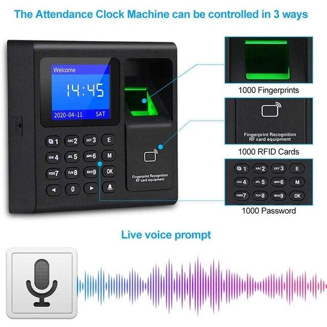 Biometric RFID Access Control System RFID Keypad USB Fingerprint System Electronic Time Clock Attendance Machine 4