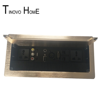 Hide Desktop Socket Information Box / HDMI Audio USB VGA 3-core Canon Network / Aluminum Wire Drawing