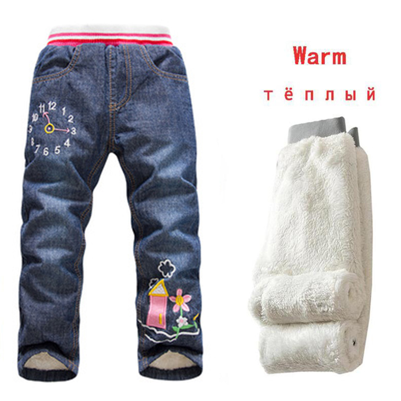 Children Jeans Pants Trousers Autumn Baby-Boys Kids Winter Denim New Soft Thickening