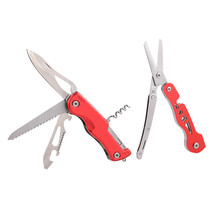 KSHIELD Folding Pocket Knife Multifunction Scissors 2 In 1 EDC Multi Tool Outdoor Camping Housework Needlework Multitool